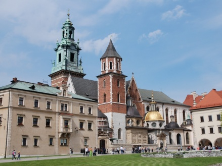 La colina de Wawel en Cracovia